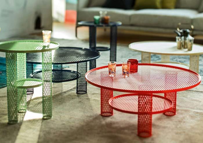 میز و صندلی فلزی با توری لوزی اکسپندد