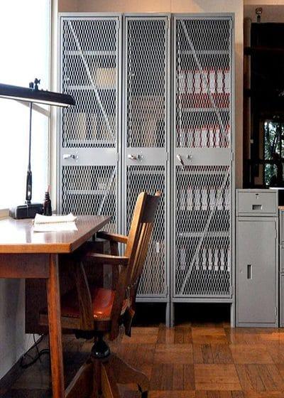 انواع کمد و قفسه فلزی مدرن با توری فلزی کششی